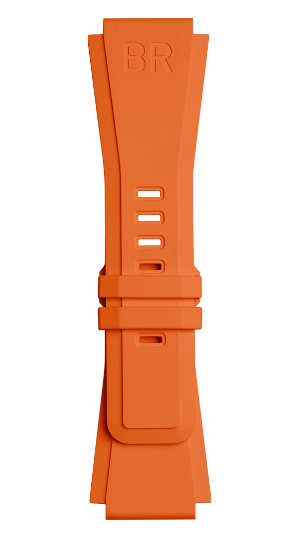 BR-X1 - BR 01 - BR 03 orange rubber strap