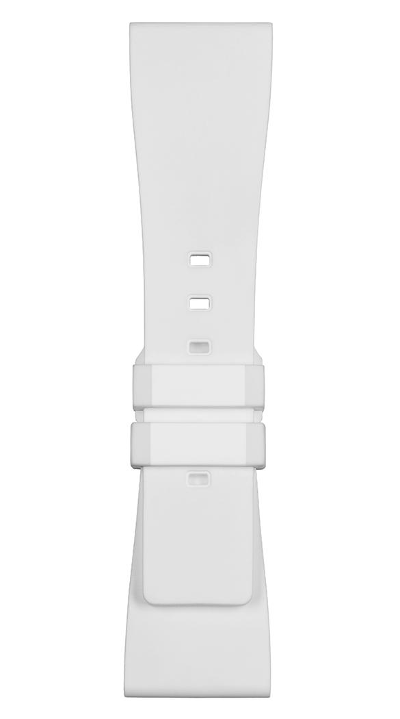 BR S White rubber strap