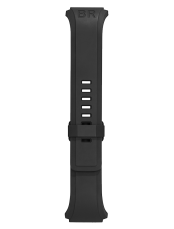 Bracelet en caoutchouc noir BR 02