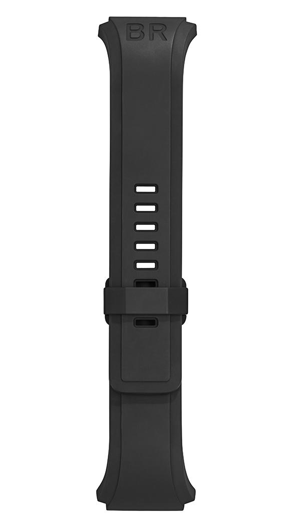 BR 02 black rubber strap