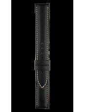 Vintage black calfskin strap - Ecru stitching