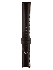 Vintage dark brown calfskin strap