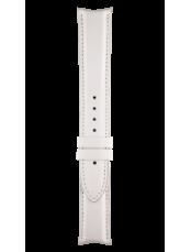 Bracelet en cuir de veau de couleur blanche Vintage