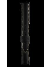 Armband aus schwarzem Kalbsleder Vintage XL