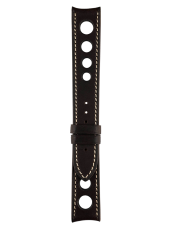 Vintage perforated brown calfskin strap