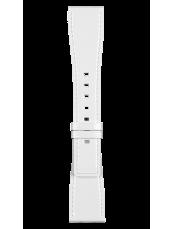 Bracelet en cuir de veau de couleur blanc vernis BR S