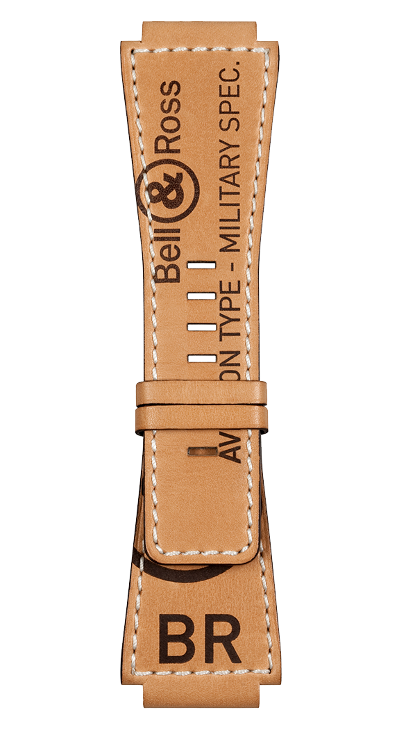 Heritage BR-X1 - BR 01 - BR 03 natural calfskin decorated  strap