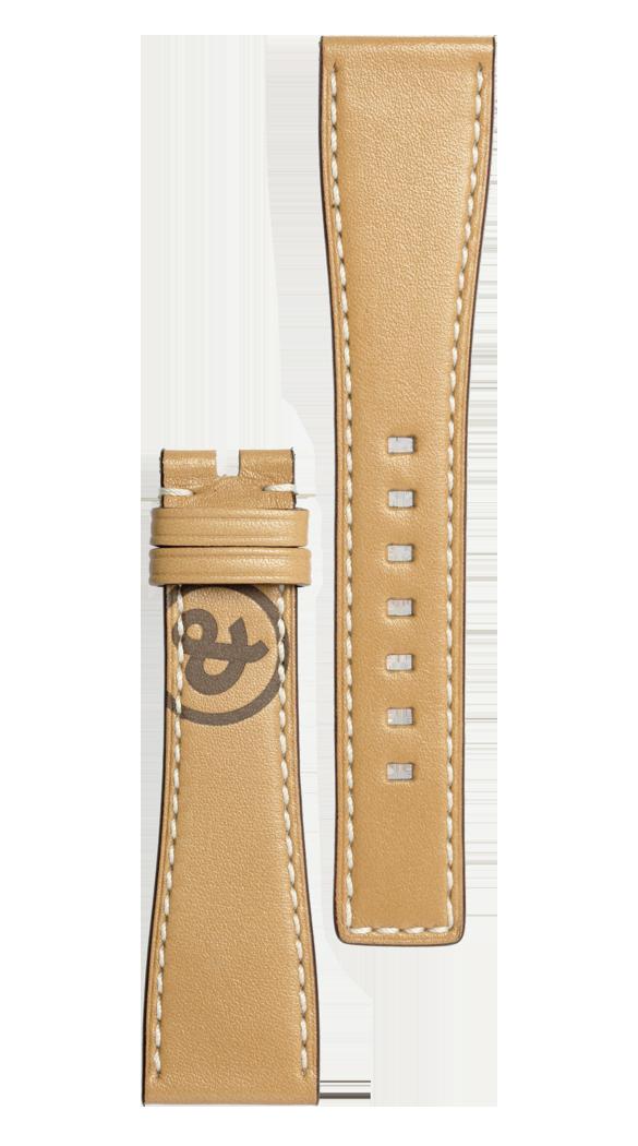 Armband aus naturfarbenem Kalbsleder Heritage BR S