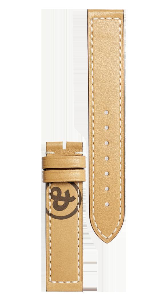 Bracelet en cuir de veau de couleur naturelle Heritage WW1