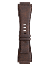 BR-X1 - BR 01 - BR 03 노화된 갈색 송아지 가죽 스트랩.