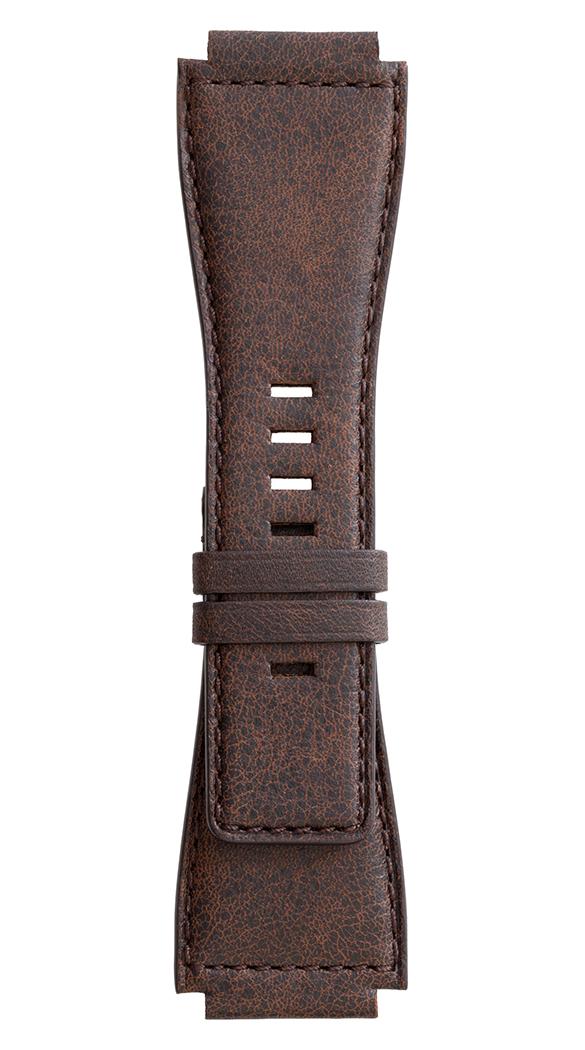 BR-X1 - BR 01 - BR 03 aged brown calfskin strap.