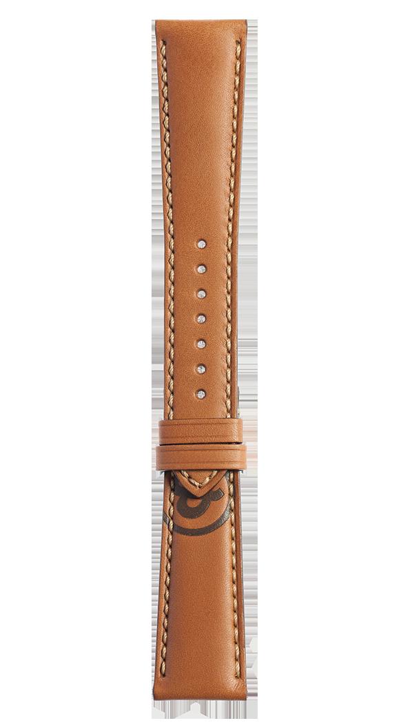Bracelet en cuir de veau de couleur marron Golden Heritage BR 123 - BR 126 - BR V2