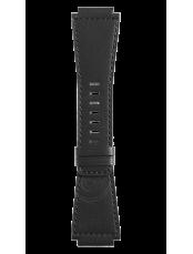 Bracelet en cuir de veau de couleur noire Heritage BR-X1 - BR 01 - BR 03