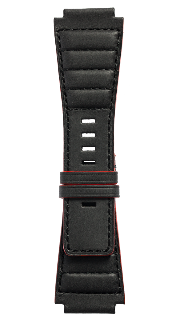 B-Rocket BR-X1 - BR 01 - BR 03 quilted black calfskin strap