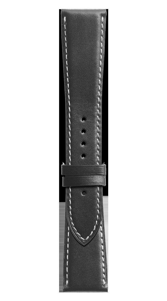 BR 123 - BR 126 - BR V2黑色小牛皮表带。