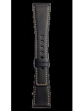 Bracelet en cuir de veau de couleur noire BR S