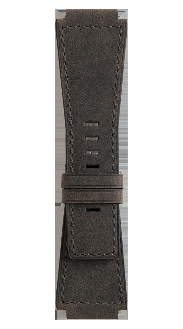 Bracelet en cuir de veau de couleur gris-vert BR-X1 - BR 01 - BR 03
