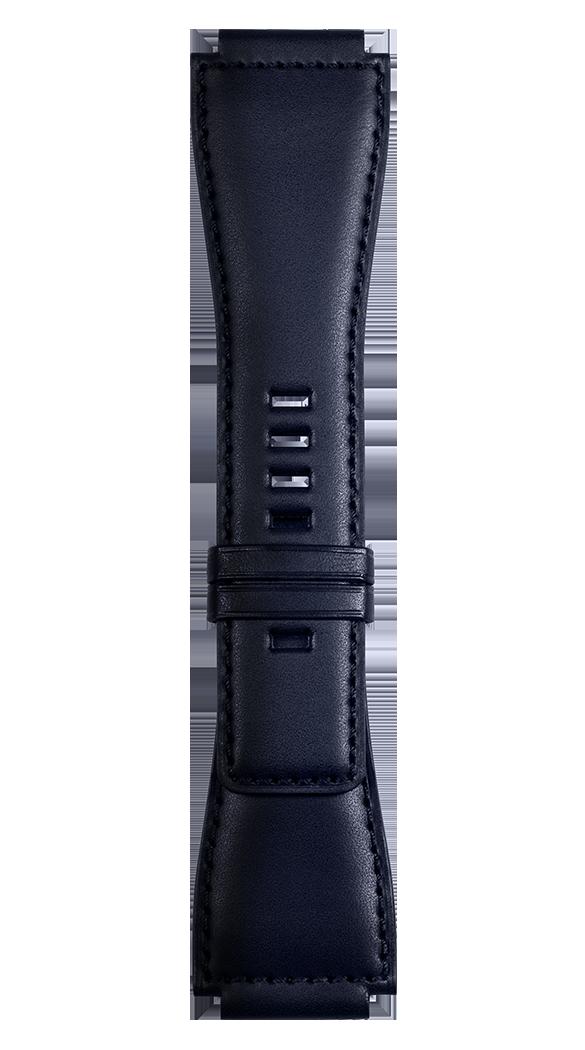 BR X1 - BR 01 BR 03 Navy blue calfskin strap