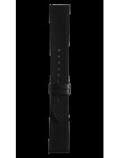 Bracelet en cuir veau de couleur noir Vintage - BR V1