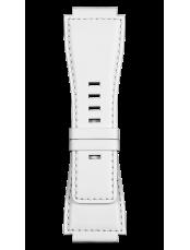 BR-X1 - BR 01 - BR 03 흰색 송아지 가죽 스트랩