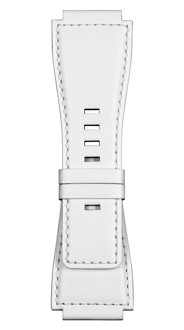 Correa de piel de becerro blanca para relojes BR-X1 - BR 01 - BR 03