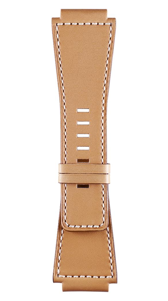 Correa de piel de becerro natural para relojes Heritage BR-X1 - BR 01 - BR 03.