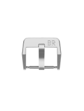 Vintage BR polished and satin-finished steel pin buckle