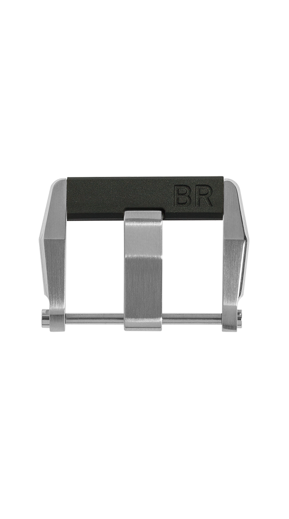 BR-X1 steel pin buckle with rubber insert