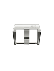 BR 01 - BR 02 - BR 03 polished and satin-finished steel pin buckle