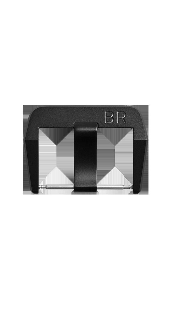 Fibbia ad ardiglione in acciaio finitura PVD nero opaco BR 01 - BR 02 - BR 03.