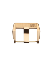 BR X1 polished and satin-finished 18 ct rose gold pin buckle