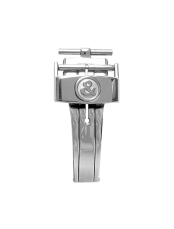 BR 123 - BR 126 - BR V2 polished steel semi-folding buckle